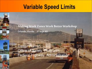 Variable Speed Limits