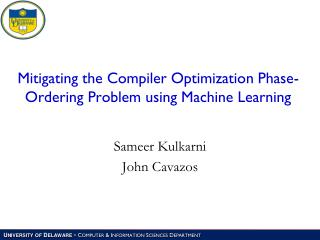 Mitigating the Compiler Optimization Phase-Ordering Problem using Machine Learning