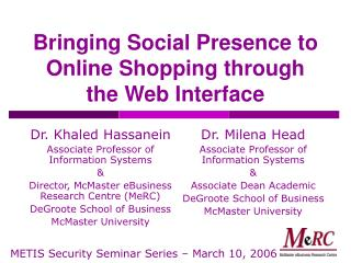 Bringing Social Presence to Online Shopping through the Web Interface