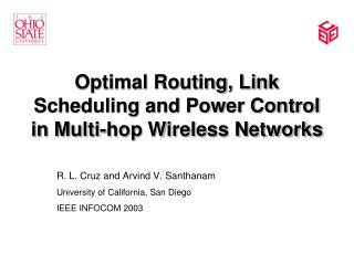 Optimal Routing, Link Scheduling and Power Control in Multi-hop Wireless Networks