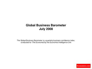 Global Business Barometer July 2008