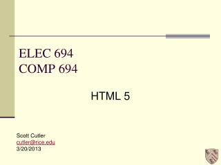 ELEC 694 COMP 694