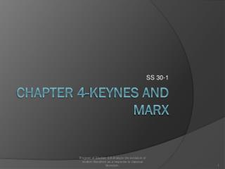 Chapter 4-Keynes and Marx