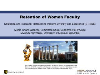 Retention of Women Faculty