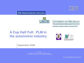 A Cup Half Full: PLM in the automotive industry