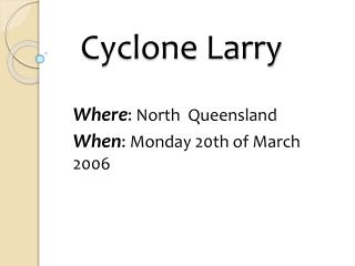 Cyclone Larry