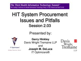 HIT System Procurement Issues and Pitfalls  Session 2.03