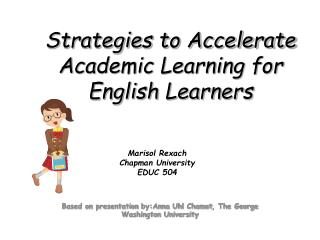 Strategies to Accelerate Academic Learning for English Learners