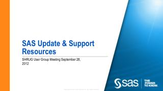 SAS Update & Support Resources