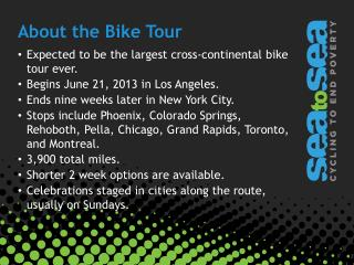 About the Bike Tour