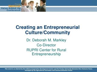 Creating an Entrepreneurial Culture/Community