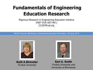 Fundamentals of Engineering Education Research