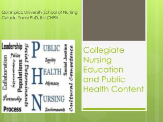 Collegiate Nursing Education   and Public Health Content
