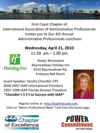 First Coast Chapter of  International Association of Administrative Professionals
