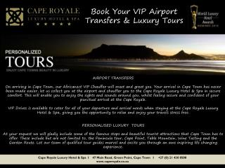Book Your VIP Airport Transfers &  Luxury Tours
