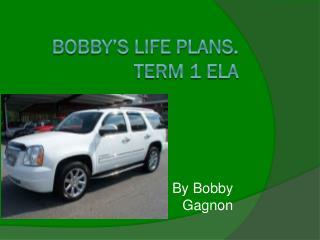 Bobby's Life Plans . Term 1 ELA