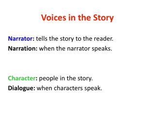 Voices in the Story