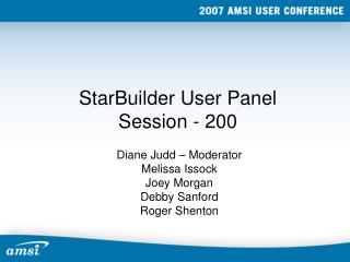 StarBuilder User Panel Session - 200