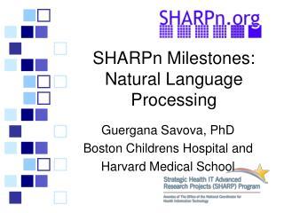 SHARPn Milestones: Natural Language Processing