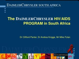 D AIMLER C HRYSLER SOUTH AFRICA