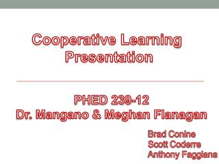 Cooperative Learning  Presentation