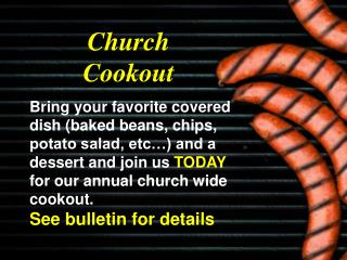 Church Cookout
