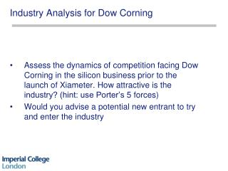 Industry Analysis for  Dow Corning