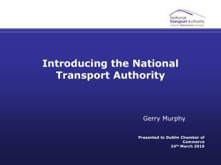 Introducing the National Transport Authority