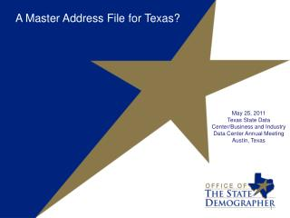 A Master Address File for  Texas?