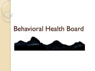 Behavioral Health Board