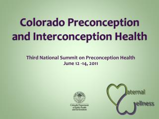 Colorado Preconception and Interconception Health