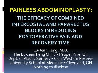 Painless  abdominoplasty :