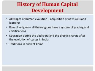 role of human capital in new
