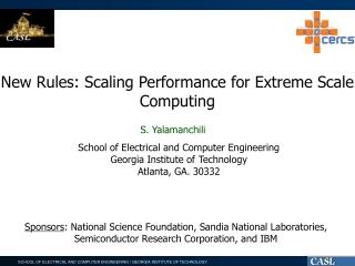 New Rules: Scaling Performance for Extreme Scale Computing