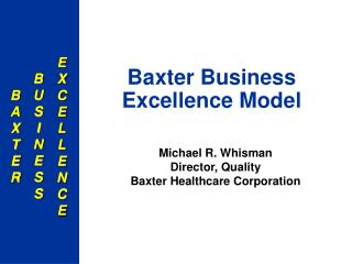Baxter Business Excellence Model