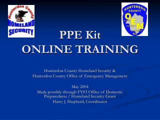 PPE Kit ONLINE TRAINING