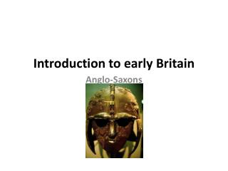 Introduction to early Britain