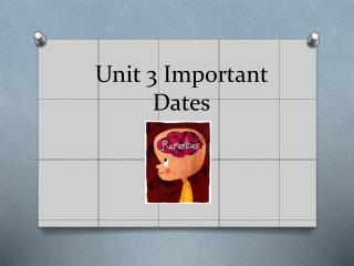 Unit 3 Important Dates