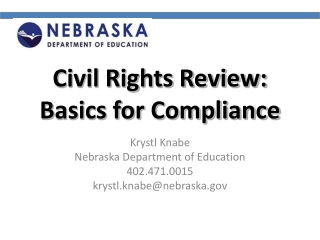 Civil Rights Review: Basics for Compliance