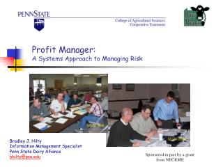 Profit Manager: A Systems Approach to Managing Risk