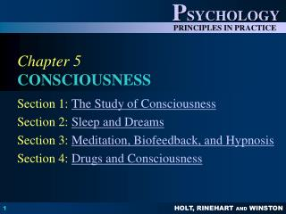 Chapter 5 CONSCIOUSNESS