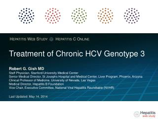 Treatment of Chronic HCV  Genotype  3