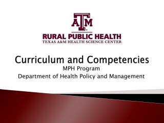Curriculum and Competencies