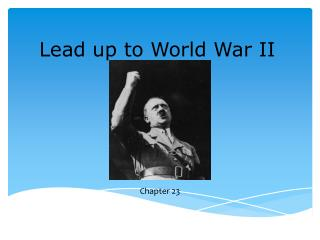 Lead up to World War II