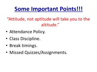 Some Important Points!!!