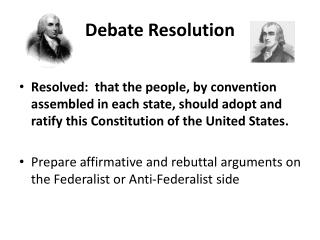 Debate Resolution