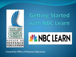 Getting Started  with NBC Learn