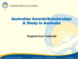 Australian Awards/Scholarships & Study in Australia