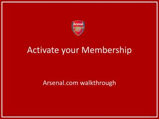 Activate your Membership