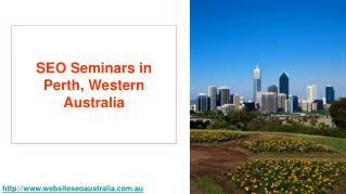 Perth SEO - SEO Seminars in Perth Western Australia